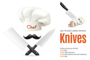 Kitchen Knives Realistic