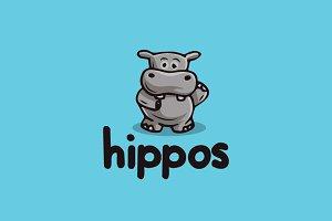 Hippo Character Logo