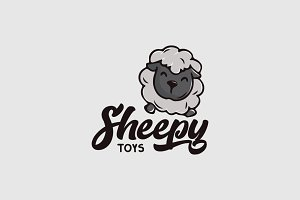 Sheep Character Logo