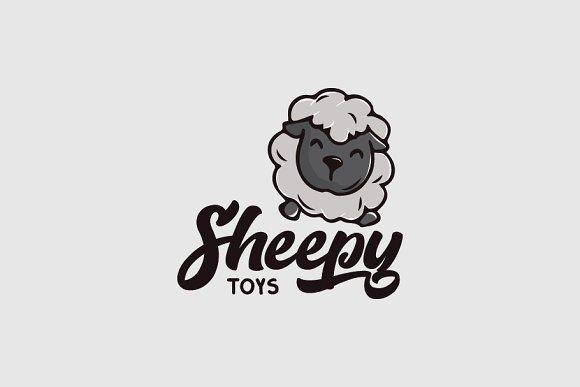 Sheep Character Logo