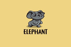 Elephant Cartoon Logo