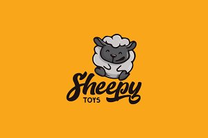 Sheep Cartoon Logo