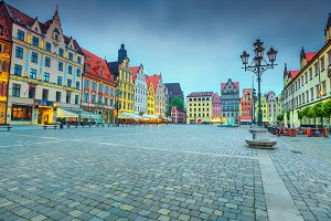 Wroclaw city center, Poland