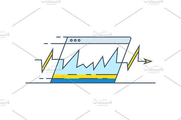 Website speed loading time icon in Illustrations