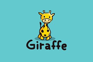 Giraffe Character Logo