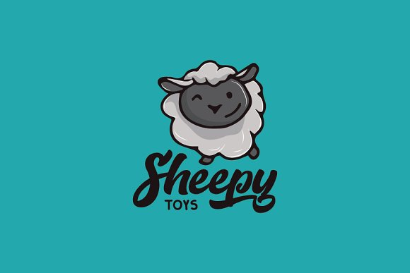 Sheep Cartoon Logo