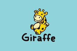 Giraffe Cartoon Logo