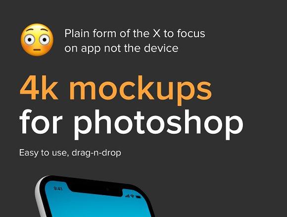 IPhone X Mockups In 4k