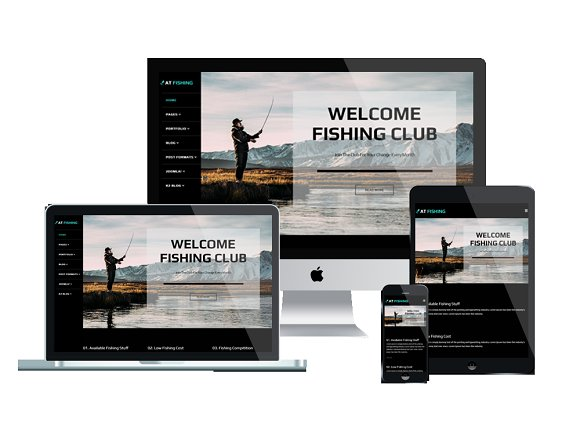 AT Fishing Fishing Joomla Template