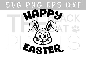 Happy Easter bunny SVG DXF EPS PNG