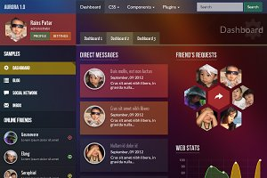 Aurora - Bootstrap Admin Theme