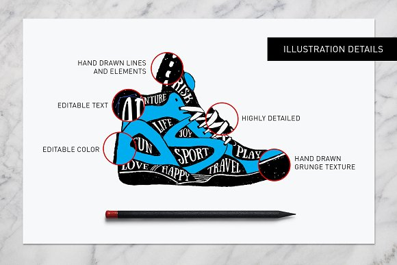 Good Shoes. 8 Inspirational Badges in Logo Templates - product preview 3