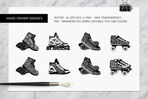 Good Shoes. 8 Inspirational Badges in Logo Templates - product preview 4