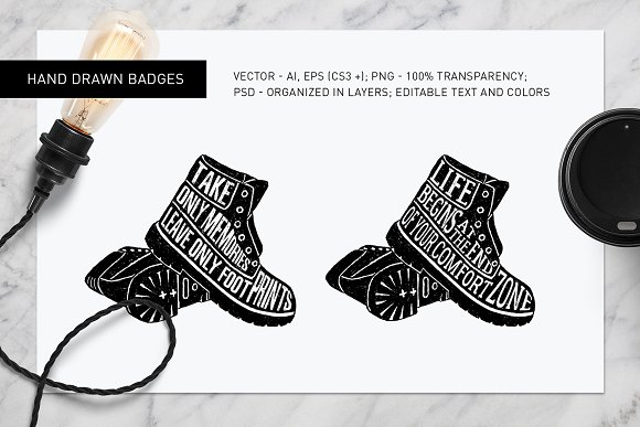 Good Shoes. 8 Inspirational Badges in Logo Templates - product preview 5