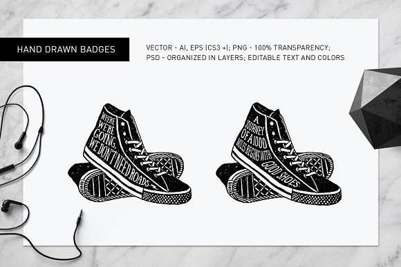 Good Shoes. 8 Inspirational Badges in Logo Templates - product preview 6