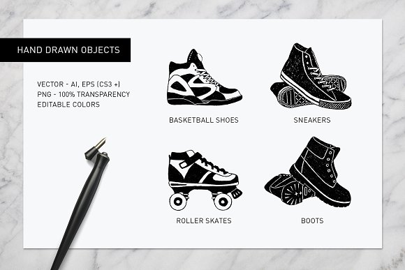 Good Shoes. 8 Inspirational Badges in Logo Templates - product preview 9