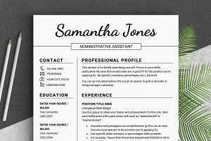 Minimalist RESUME Template // Jones