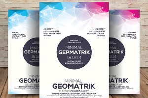 Minimal Geometric Flyer Psd