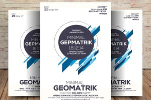 Minimal Geometric Flyer Psd Template