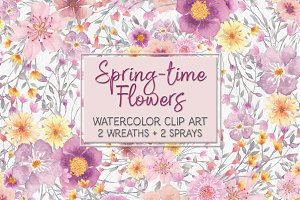Pretty spring flower clip art