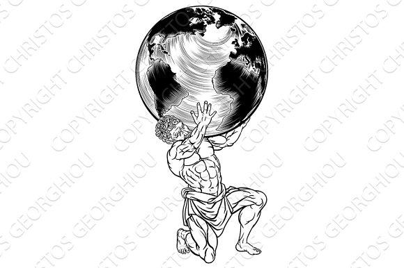 Greek Mythology Atlas Illustration