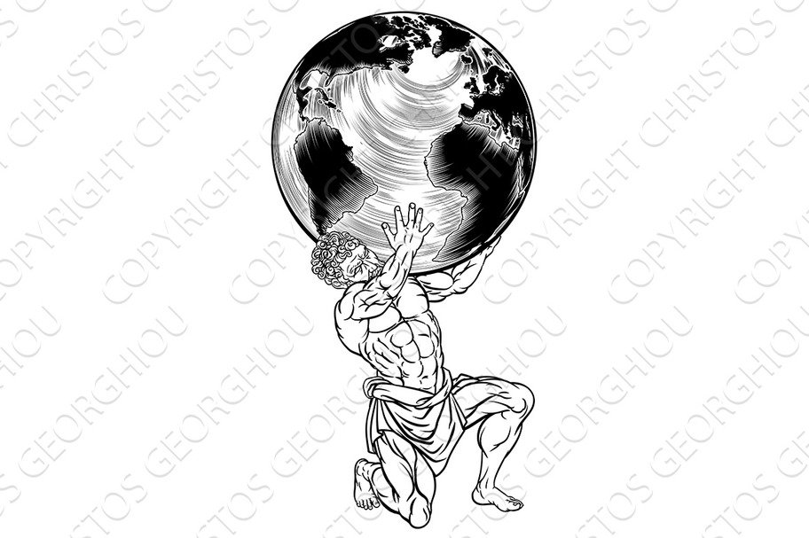 Greek God Atlas Symbol