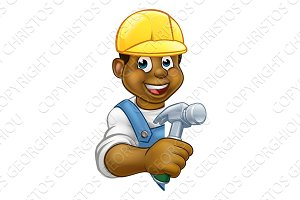 Builder Carpenter Cartoon