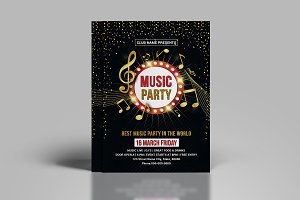 Music Club Party Flyer-V736