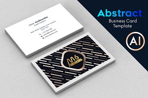 Abstract Business Card Template - 64
