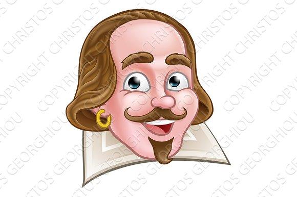 Shakespeare Elizabethan Cartoon Character