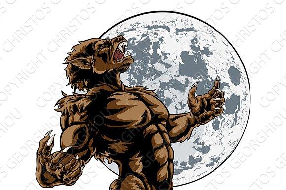 Howling Full Moon Werewolf Monster