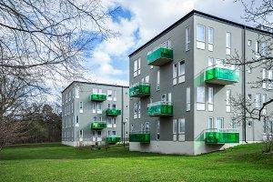 Modern houses in Stockholm.