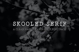 Skooled Serif – A Hand Drawn Web Fon