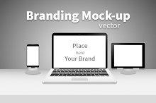 Branding mock-up black&white