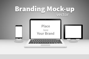 Branding mock-up black&white