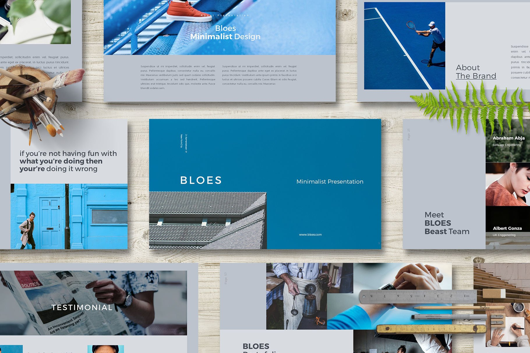 Powerpoint Magazine Template
