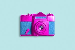 Pop art photo camera