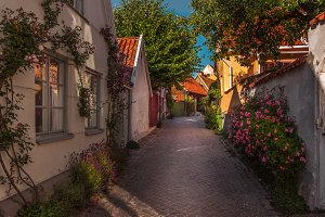 Street view of Visby, Gotland,Sweden