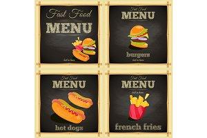 Fast food chalkboard Set