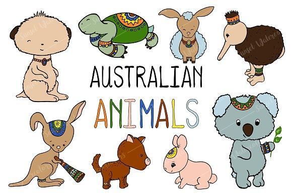 Australian Animals Vector Clipart