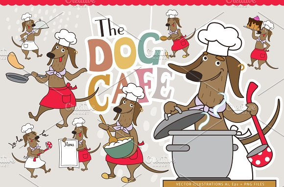 The Dog Cafe in Illustrations