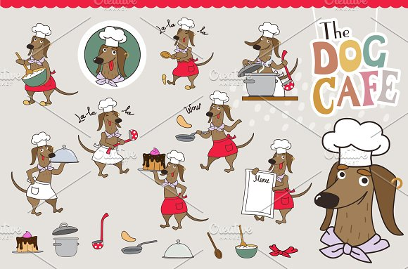 The Dog Cafe in Illustrations - product preview 1