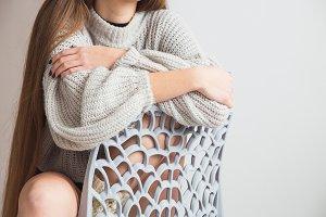 Woman in warm sweater