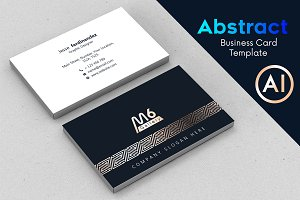 Abstract Business Card Template - 68