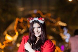 Santa woman.