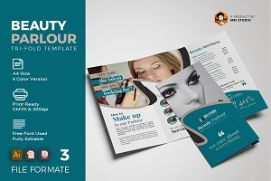 Creative Beauty Parlour Trifold