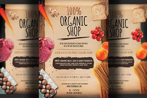 Organic Shop Flyer Template