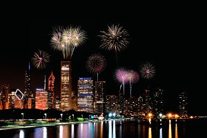 Chicago fireworks.