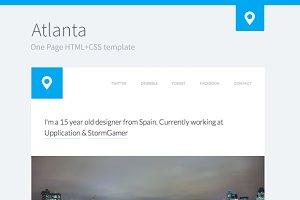 Atlanta - One Page Premium Template