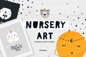 Nursery art - Animals & Lettering